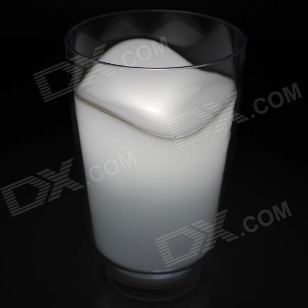 Stylish 1W 300lm 6000K LED Cup Scene Night Light - White + Transparent (3 x AAA)