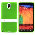 Protective TPU Silicone Back Case w/ Stand for Samsung Galaxy Note 3 - Green