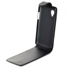 Protective Top Flip Open PU Leather Case for LG Nexus5 E980 / D820 - Black