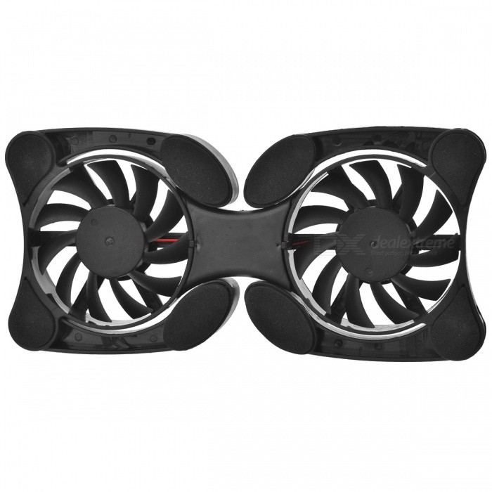 2-Fan USB powered laptop cooling pad - cor aleatória