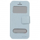 SLDPJ Fashionable Ultra-thin Protective PU Leather Case Cover for Iphone 5 - Light Blue