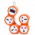 Multifunction 4-Outlet Power Strip Splitter w/ Switch - Orange