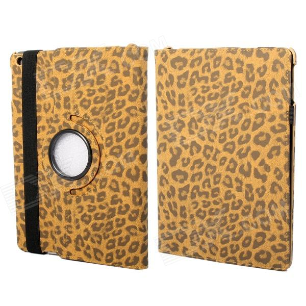 360 Degree Rotation Leopard Pattern Protective PU Leather + PC Case Cover Stand for Ipad AIR - Brown bohemme w15062315960