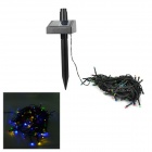 0.6W Solar Powered 100-LED Garden Grassland Decoration String Light - Black