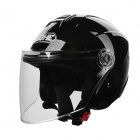 YH Y01 Motorcycle Warm Safety Helmet w/ 4-LED Red Warning Light - Black