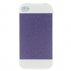 Fashionable Shimmering Powder Style Protective TPU Back Case for iPhone 4 - Blue + White