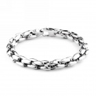 "EQute BSSM36S1 316L Stainless Steel Bracelet for Man - Silver (8"")"