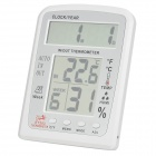 "KT203 5'' + 5"" LCD Digital Indoor / Outdoor Thermometer / Humidity Meter - White (1 x AA)"