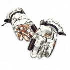 HongTouNiao H569 Outdoor Waterproof Windproof Anti-Slip Hunting Gloves - White + Camouflage (Size-L)