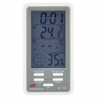 "DC803 4"" LCD Digital Indoor & Outdoor Temperature Humidity Meter w/ Alarm Clock"