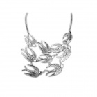 Vintage Returning Swallow Style Zinc Alloy Women's Necklace - Antique Silver