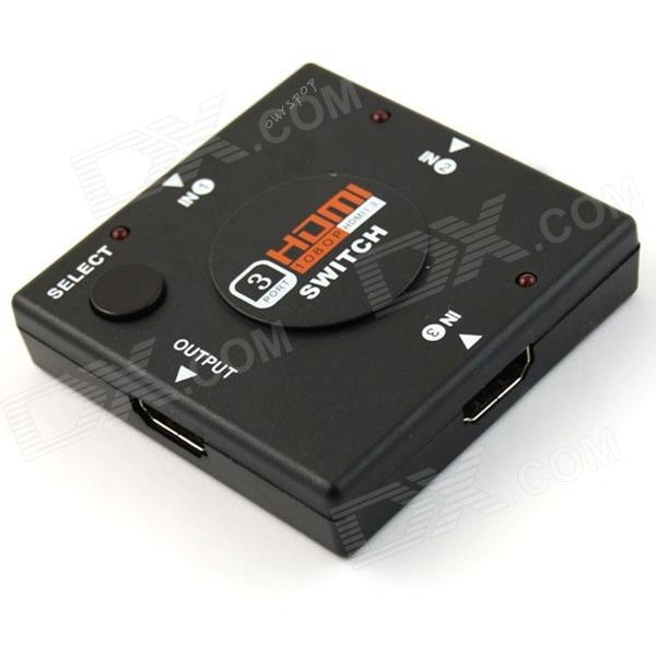 Ourspop U7 HDMI V1.4 Switch Splitter Switcher - Black (3-in/1-out)