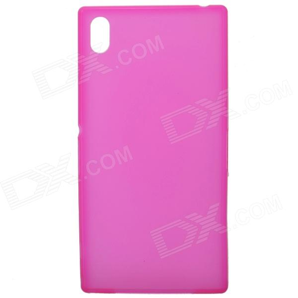 TEMEI Ultrathin Protective TPU Back Case for Sony Xperia Z1 L39h - Deep Pink смартфон sony xperia xa1 ultra dual