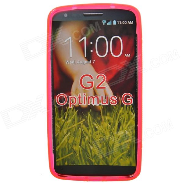"""S"" Style Protective TPU Back Case for LG G2 Optimus G - Fluorescent Red"