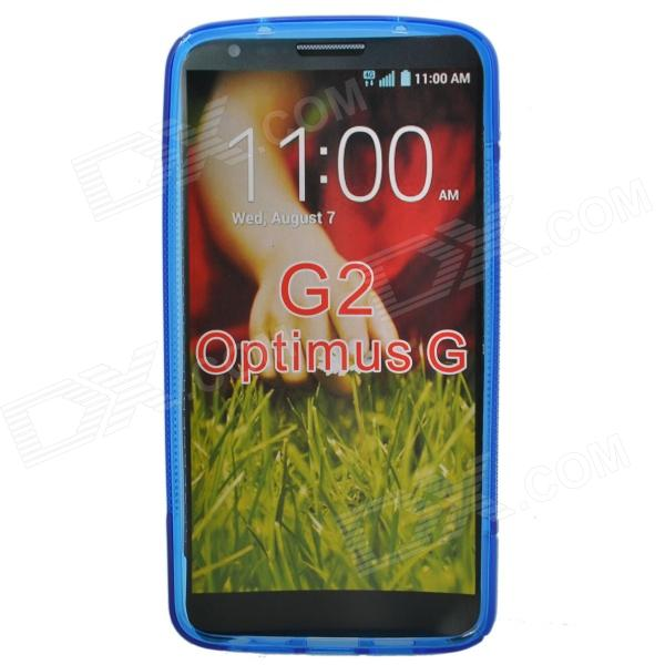 S Style Protective TPU Back Case for LG G2 Optimus G - Deep Blue