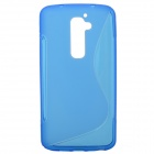 """S"" Style Protective TPU Back Case for LG G2 Optimus G - Deep Blue"