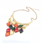 Vintage Squares Tassels Hot Zinc Alloy Women's Necklace - Multicolored