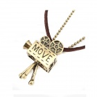 Fashionable VideoCamera Style Zinc Alloy Women's Necklace - Brown + Bronze