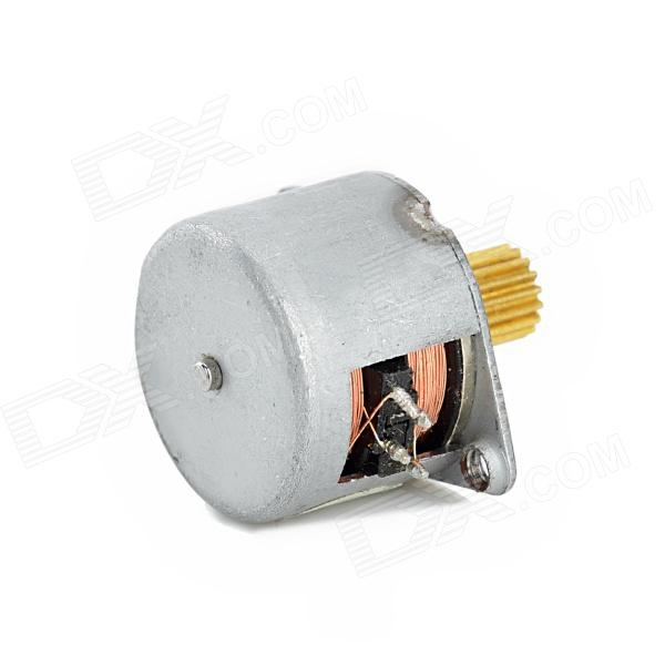 Jtron mini 15mm two phase four wire stepper motor silver for Very small stepper motor
