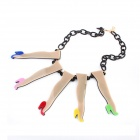 Exaggerated Characteristic High-heeled Shoes Style Zinc Alloy Women's Necklace - Multicolored