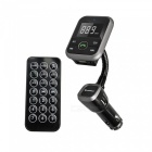 "1.5"" LCD Flexible Metallic Hose Bluetooth Handsfree Car Kit w/ FM Transmitter / 2.1A USB Charger"
