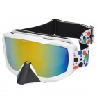Marsnow 101 Climbing Skiing Red REVO UV400 Protection Double Antifog Lens Goggles - White