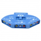 AV-001 1-to-3 1-OUT 3-IN AV Switcher Set - Light Blue