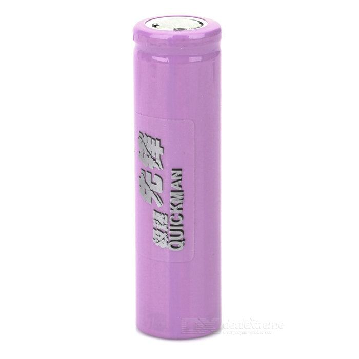 18650 1500mAh 3.7V Rechargeable Li-ion Battery - Purple