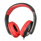 SOUND FRIEND SH-007 Stylish Headphone Headset w/ Microphone for PC / Laptop - Black + Red