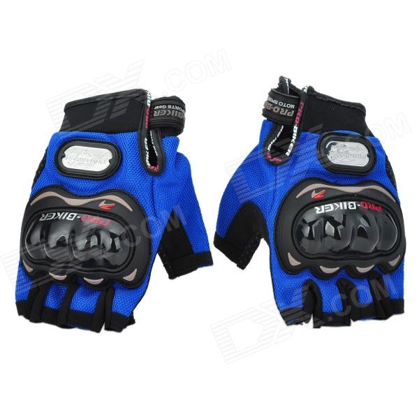 PRO HJ41 Motorcycle Cycling Racing Half-finger Gloves - Light Blue (XL / Pair)