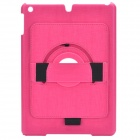 360 Degree Rotation Stylish Protective ABS Case Stand for Ipad AIR - Deep Pink