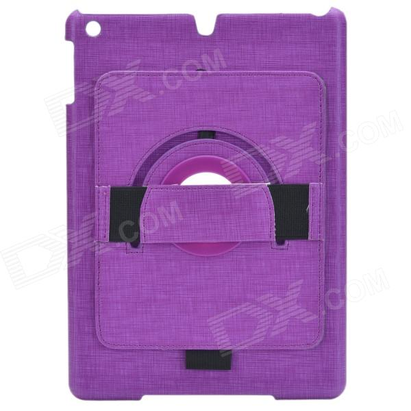 360 Degree Rotation Stylish Protective ABS Case Stand for Ipad AIR - Purple