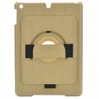 360 Degree Rotation Stylish Protective ABS Case Stand for iPad Air - Yellow