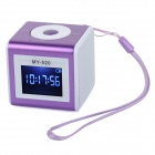 "SuoChao MY-520 1.4"" LCD Mini Portable Media Player Speaker w/ TF / USB - Purple + White"