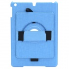 360 Degree Rotation Stylish Protective ABS Case Stand for Ipad AIR - Light Blue