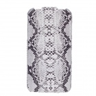 SAYOO Snakeskin Regulus Series Vertical Open Protective PU Leather Case for Iphone 4S - White +Black