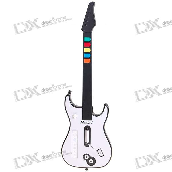 Wireless Guitar Controller for Wii Remote Guitar Hero III