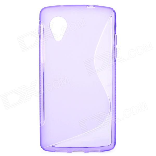 S Style Anti-Slip Protective TPU Back Case for LG Nexus 5 E980 / D820 - Purple protective pc tpu back case for iphone 5 w anti dust cover lavender purple