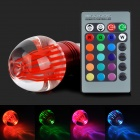 TOPLE TJ-RGB-3WP E27 3W 180lm 1-LED Multi-color Light Lamp w/ Remote Controller - Red
