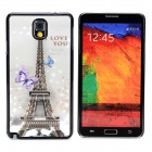 3D I Love You Eiffel Tower Style Protective Back Case for Samsung Galaxy Note 3 - Black + Multicolor