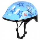 Cute Cartoon Tiger & Stars Pattern Kid's Bike PC Helmet - Light Blue