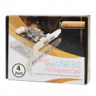 PCI-E 4 Port USB3.0 Expansion Card - Green