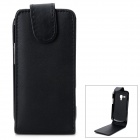 Protective Flip-Open PU Leather Case for Samsung Galaxy Star Pro S7262 - Black