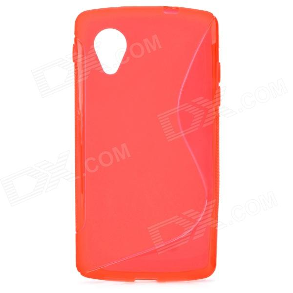 S Style Anti-Slip Protective TPU Back Case for LG Nexus 5 E980 / D820 - Red protective silicone back case for lg nexus 5 red