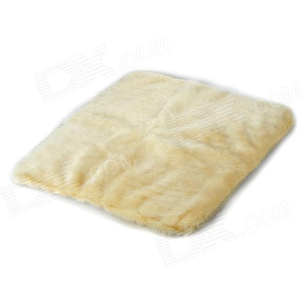 ZD-11 Car Plush Seat Cushion - Beige