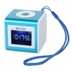 "SuoChao MY-520 1.4"" LCD Mini Portable Media Player Speaker w/ TF / USB - Blue + White"