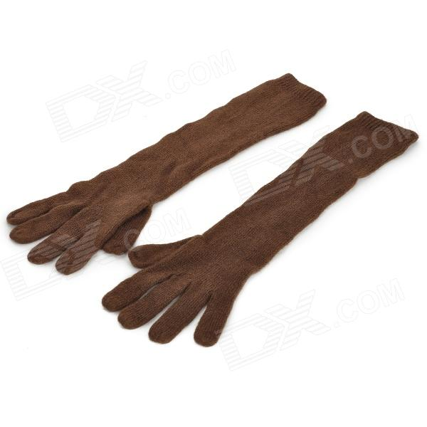 K11 Fashion Wool Long-Sleeve Gloves for Women - Coffee (Free Size / Pair)
