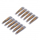 HENGSHENG 0817-7 High-Quality Nail Clippers - Silver + Gold (12 PCS)
