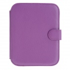 S1519603 Protective PU Leather Case Cover for Amazon Kindle Nook2 - Purple