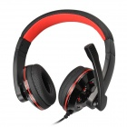 SOUND FRIEND SF-SH-012U Stylish USB 2.0 Headphones w/ Microphone / Volume Control - Black + Red